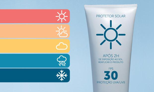Faça chuva ou faça sol, use protetor solar